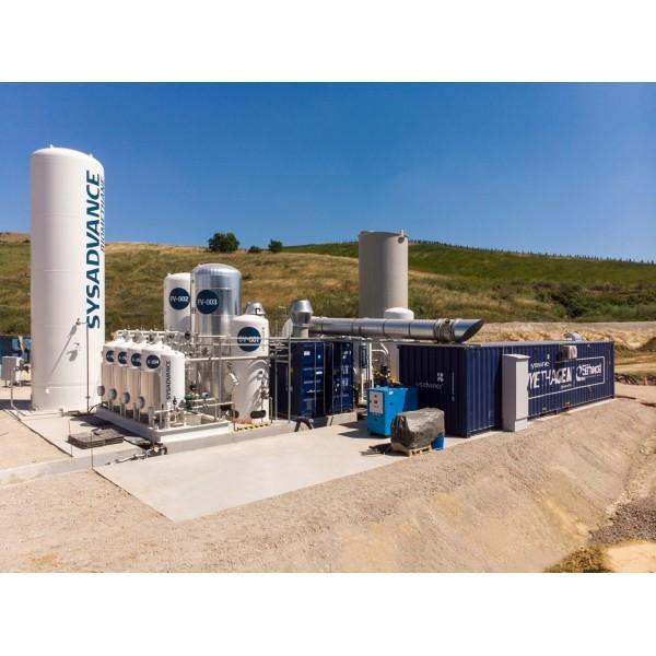 Sąvartynų dujų gryninimas