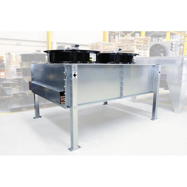 Transtherm oru aušinami kondensatoriai